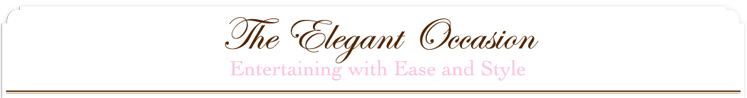 The Elegant Occasion Food Blog, Recipes, Planning Notes, Entertaining logo